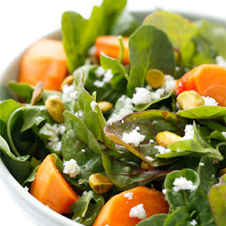 Persimmon Salad with Blood Orange Vinaigrette