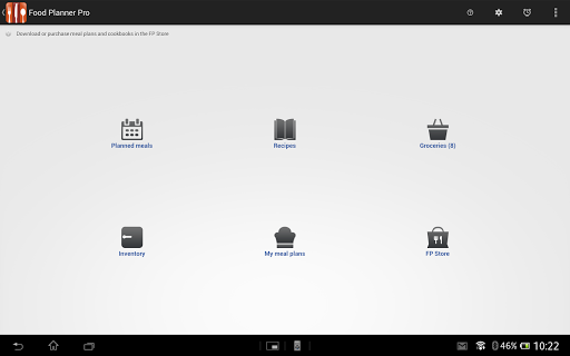 Food Planner Pro Module - screenshot