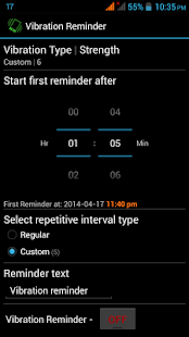 Vibration Reminder - screenshot