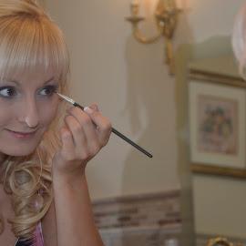 Getting Ready by Lorraine D.  Heaney - Wedding Getting Ready