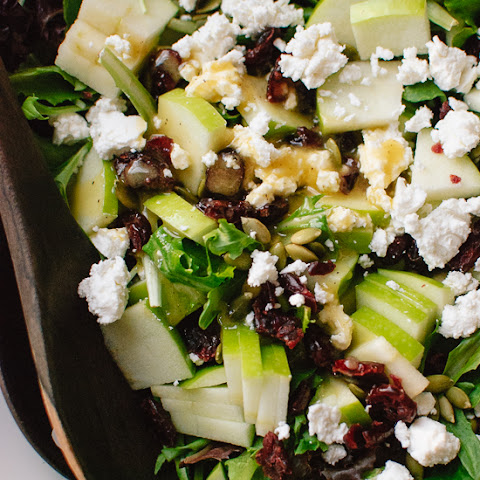 Favorite Green Salad with Apples, Cranberries and Pepitas