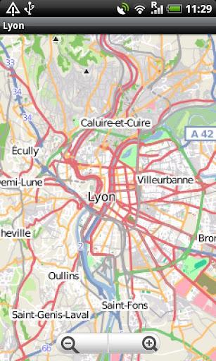 Lyon Street Map