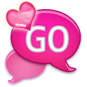 GO SMS - Pink Hearts Camo SMS icon