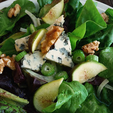 Mixed Autumn Greens, Figs, Fennel, Walnuts and Blue Cheese with Honey Vinaigrette
