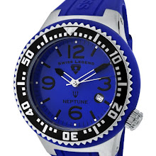 Swiss Legend Men's Neptune Blue Dial Blue Silicone SL-21848P-03-BLBS Watch