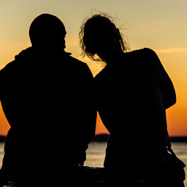 The colors of romance by Vesna Holjevac - People Couples ( love, colors, sunset, romance, couples )