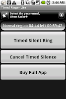 Screenshot of Timed Ringer Silencer Lite