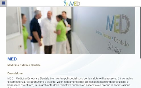 MED Medicina Estetica Dentale - screenshot