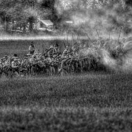 Confederate Advance by Mark Six - News & Events World Events ( army, reenactment, battle, civil war, people, war )