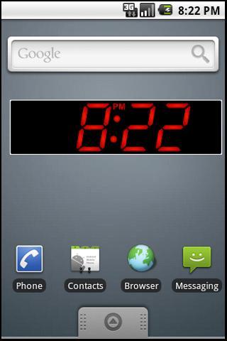 PK Led Clock Widget