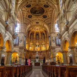 St Francis Xavier Church in NYC by Kevin Case - Buildings & Architecture Places of Worship ( prayer, catholic, church, st francis, holy, nyc, st francis xavier, worship )
