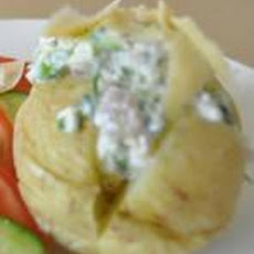 Jacket Potatoes W/Herbed Cottage Cheese (Diabetic Friendly)