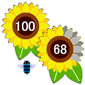 Sunflower Battery Meter Widget