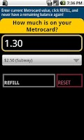 Screenshot of Refill My Metrocard!