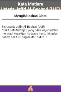 Kata Mutiara Ustadz Jeffri - screenshot