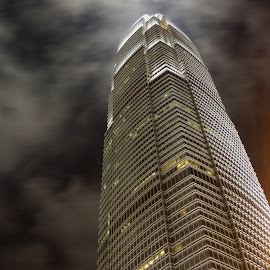 by Matty Gott - Buildings & Architecture Office Buildings & Hotels ( icfc, hongkong, night )