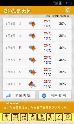 【免費天氣App】さいたま天気-APP點子