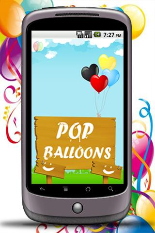 Pop Balloons HD