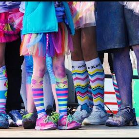 Rainbow Legs by Ashley Rodriguez - People Street & Candids