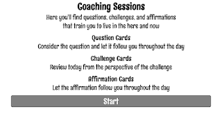 Screenshot of Coaching Session