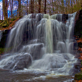 Dry Run Falls by William Hamm - Landscapes Waterscapes ( william hamm, pa., dry run, waterfall, sullivan county )