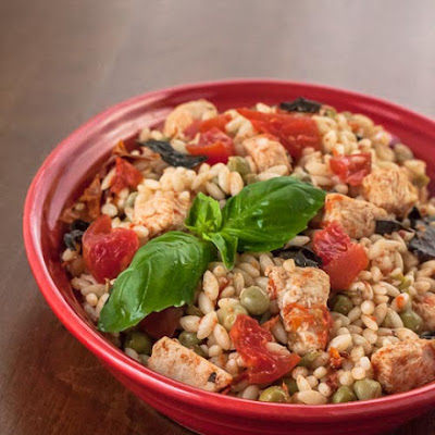 Skillet Chicken with Orzo and Tomatoes