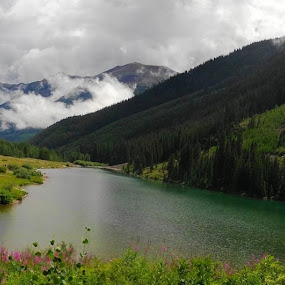 At Maroon Bells, Aspen CO by Anu Sehgal - Landscapes Mountains & Hills (  )