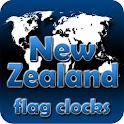 New Zealand flag clocks icon