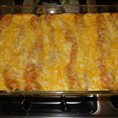 Cottage Cheese Cheddar Enchiladas With Taco Sauce