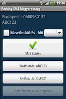 Screenshot of Parking SMS Magyarország
