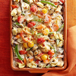 Tortellini and Garden Vegetable Bake