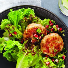 Shrimp Cakes with Pomegranate Salsa