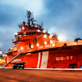 Rescue ship by Antonio Amen - Transportation Boats ( marine, ship, rescue, boat, cost guard )