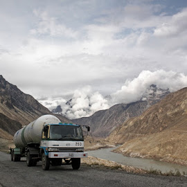Oil Tanker by Kiran Nasir - Landscapes Travel ( clouds, pakistan, nature, travel, landscape, oil tanker, wonderful )