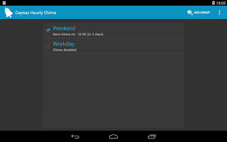 Screenshot of Hourly chime