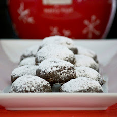 Chocolate Crunch Snowball Cookies