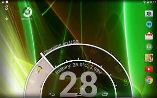 Screenshot of Battery LiveWallpaper HD