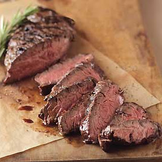 Pan-Grilled Beer-Marinated Hanger Steak