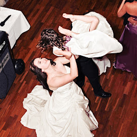 In the Air by Alan Evans - Wedding Reception ( reception, dancing, wedding photography, mother and daughter, wedding day, wedding, aj photography, wedding reception, hunter valley, dance, hunter valley wedding photographer, wedding fun )