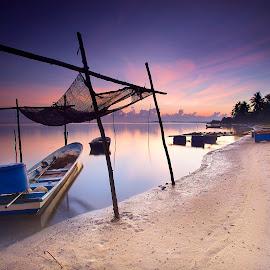 Ju Bakar Beach by Tun Toms - Landscapes Beaches ( gnd, canon, beach, sunrise, 6d, 17-35mm )