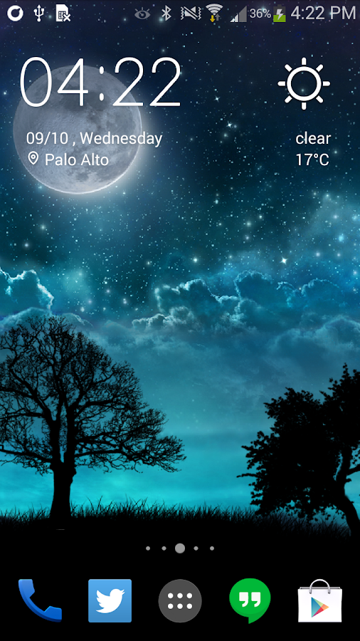 Dream Night Pro Live Wallpaper Screenshot 0