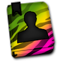 GO CONTACTS-BrightZebraRainbow icon