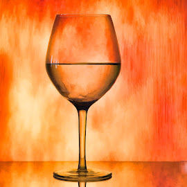 Orange Glaze by Kim Wilhite - Artistic Objects Glass ( wine, wine art, glass )