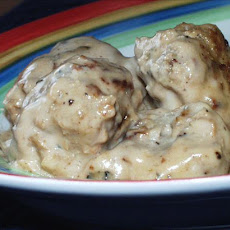 My Very Own Turkey Meatballs and Gravy