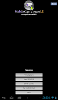 Screenshot of Tablet version MobileCamViewer