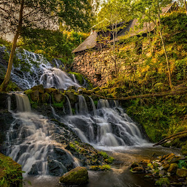 Röttle Mill by Colin Harley - Landscapes Waterscapes ( water, stream, boulders, waterfall, d5200, nikkor, watermill, mill, falls, trees, nikon, stones, rocks )
