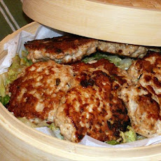 Mu Shu Chicken Patties With Seared Napa Cabbage