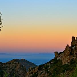 Tucson Vista by Kathleen Koehlmoos - Landscapes Deserts ( mountains in arizona, desert mountain, desert, tucson, arizona desert )