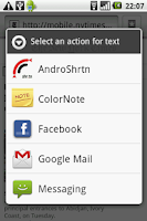 Screenshot of AndroShrtn URL Shortener