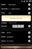 Screenshot of Grocery Gadget Shopping List